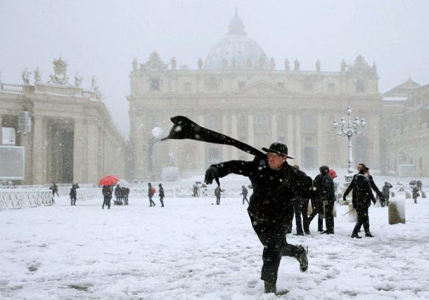 Petersplatz im Schnee