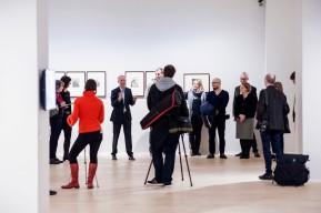 © 2018 k.enderlein FOTOGRAFIE, Felix Krämer (4. von links), Generaldirektor Museum Kunstpalast bei der Vorstellung der Ausstellung am 08.03.2018