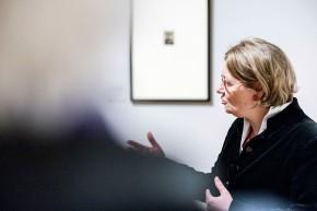 © 2018 k.enderlein FOTOGRAFIE, Sonja Brink, Kuratorin des Rembrandt-Ausstellungsteils und wissenschaftliche Mitarbeiterin der Graphischen Sammlung im Museum Kunstpalast