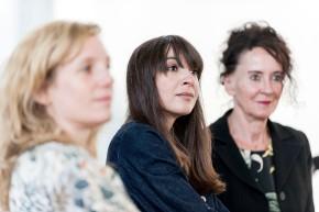Kuratorin Carolin Hochleichter, Bouchra Khalili und Ruhrtriennale-Intendantin Stefanie Carp (v.l.n.r.) © 2018 k.enderlein FOTOGRAFIE