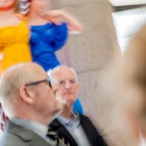 Anthony Cragg im Museum Kunstpalast, links: Co-Kurator der Ausstellung Kay Heymer (Leiter Moderne Kunst, Kunstpalast © 2018 k.enderlein FOTOGRAFIE