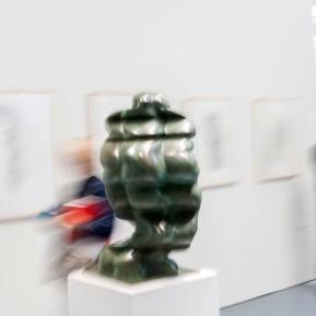 """Anthony Cragg im Museum Kunstpalast, hier seine Skulptur """"Woman´s Head"""" aus dem Jahr 2007, © 2018 k.enderlein FOTOGRAFIE"""