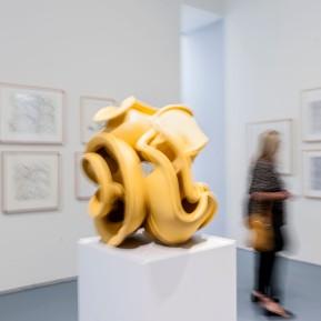 """Anthony Cragg im Museum Kunstpalast, hier seine Skulptur """"Early Form"""" aus dem Jahr 2014, © 2018 k.enderlein FOTOGRAFIE"""