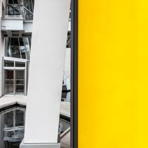 Fondation Louis Vuitton Paris, Gelbe Spiegel-Licht-Installation von Ólafur Elíasson © 2018 k.enderlein FOTOGRAFIE