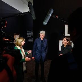 Edvard Munch im K20 - Pressekonferenz, Dr. Anette Kruszynski, Karl Ove Knausgård, Prof. Dr. Susanne Gaensheimer (v.l.n.r.) © 2019 k.enderlein FOTOGRAFIE